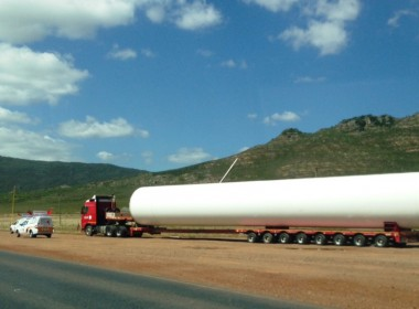 Wind Turbine Components in Transit Again